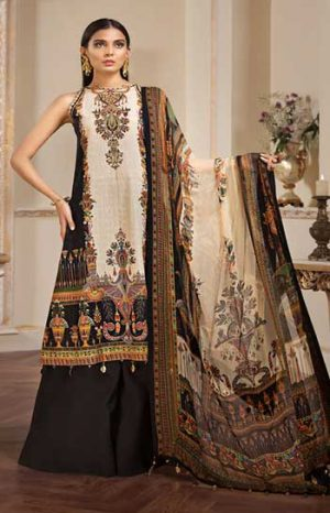 Anaya Meck Full Embroidery Lawn Suit Summer Collection