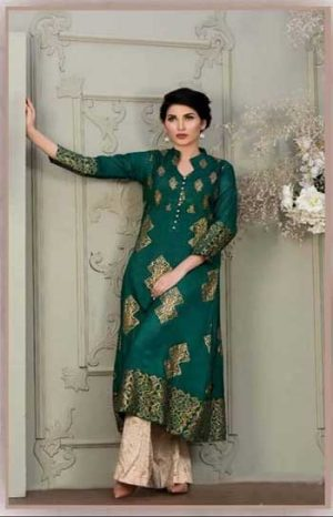 Attire by bushra waheed 2pcs design Lawn Suit Summer Collection