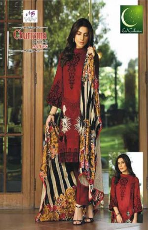 Charzima AirJet 3pcs Lawn Suit Summer Collection